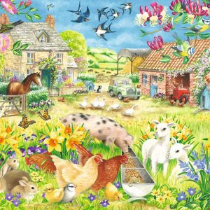 Lambing Season 1500 Piece Jigsaw Puzzle