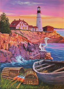 Lighthouse Cove 275 XL Piece Easy Handing Puzzle