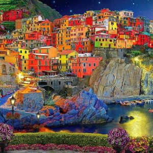 Of Land and Sea - Cinque Terre 1000 Piece Holdson Puzzle