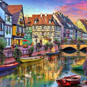 Of Land and Sea - Galerie Colmar Canal 1000 Piece Holdson Puzzle