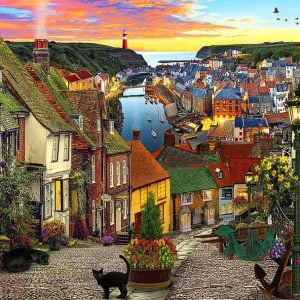 Of Land and Sea - Harbour Village 1000 Piece Holdson Puzzle