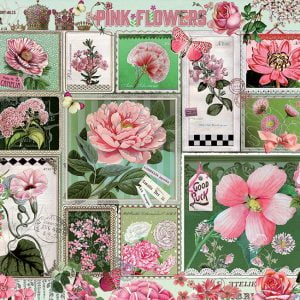 Pink Flowers 1000 Piece Cobble Hill Jigsaw Puzzle