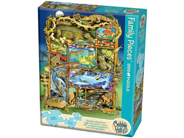 Reptiles and Amphibians 350 Piece Family Format Puzzle - Cobble Hill