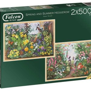 Spring and Summer Hedgerow 2 x 500 Piece Jigsaw Puzzle