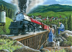 Steaming out of town 275XL Piece Puzzle