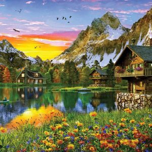 Sunsets - Alpine Sunset 1000 Piece Holdson Jigsaw Puzzle