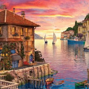 Sunsets Series 2 - Mediterranean Harbour 1000 Piece Puzzle