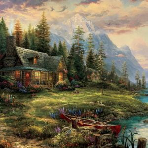 Thomas Kinkade - A Father's Perfect Day 1000 Piece Puzzle