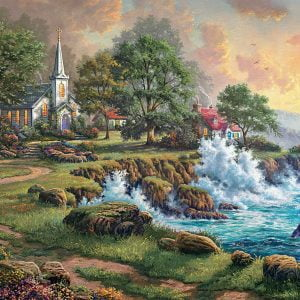 Thomas Kinkade - Seaside Haven 1000 Piece Puzzle