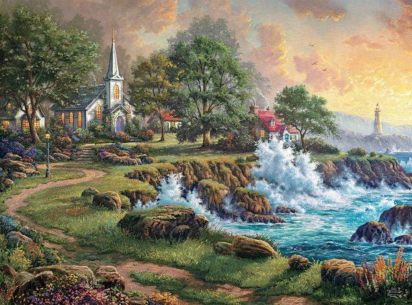 Thomas Kinkade - Seaside Haven 1000 Piece Puzzle