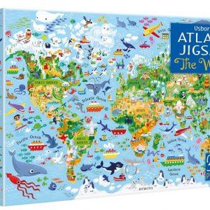 Usborne Atlas & Jigsaw The world 300 Piece