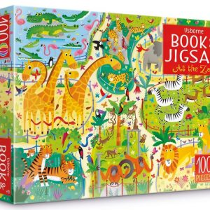 Usborne Book & Jigsaw - At the Zoo 100 Piece