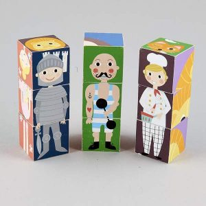 Wooden Blocks in a Box - Characters
