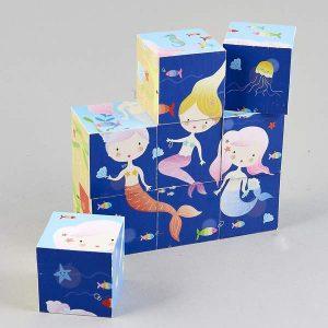 Wooden Blocks in a Box - Mermaid