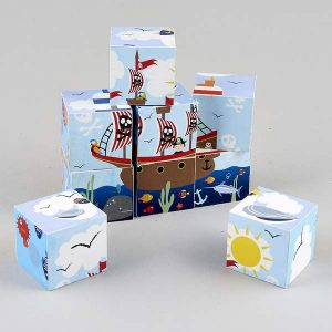 Wooden Blocks in a Box - Pirates