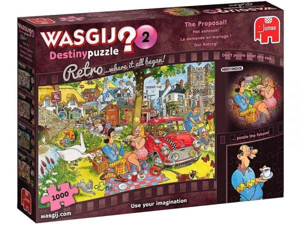 Wasgij Destiny Retro 2 - The Proposal 1000 Piece Puzzle - Jumbo