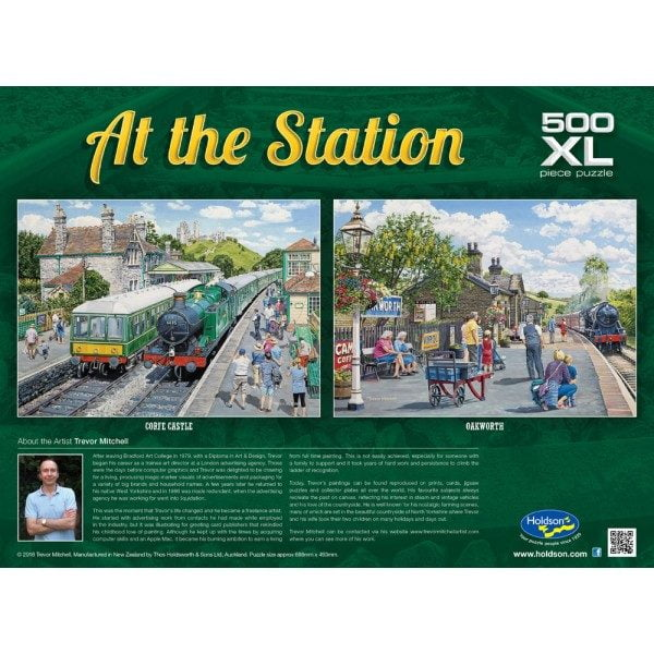 At the Station - Corfe Castle 500 XL Piece Jigsaw Puzzle