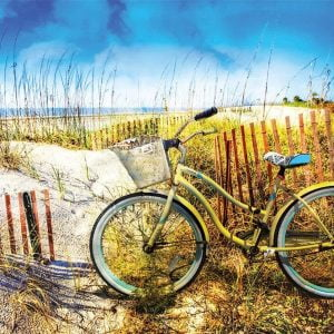 Bike in the Dunes 1000 Piece Jigsaw Puzzle