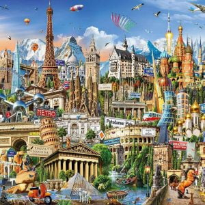 Europe Landmarks 2000 Piece Educa Jigsaw Puzzle