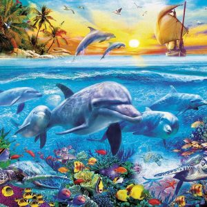 Family of Dolphins 2000 Piece Educa Jigsaw Puzzle