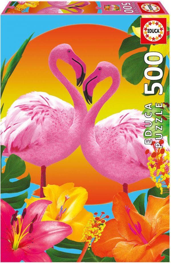 Flamingos 500 Piece Educa Jigsaw Puzzle