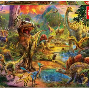 Land of the Dinosaurs 1000 Piece Educa Jigsaw Puzzle