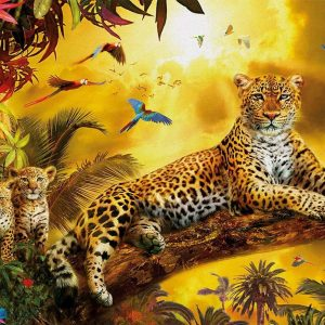 Leopard and his Cubs 500 Piece Educa Jigsaw Puzzle