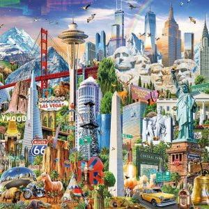 North America Landmarks 1500 Piece Jigsaw Puzzle