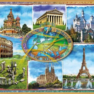 Seven Wonders of Europe 1500 Piece Jigsaw Puzzle