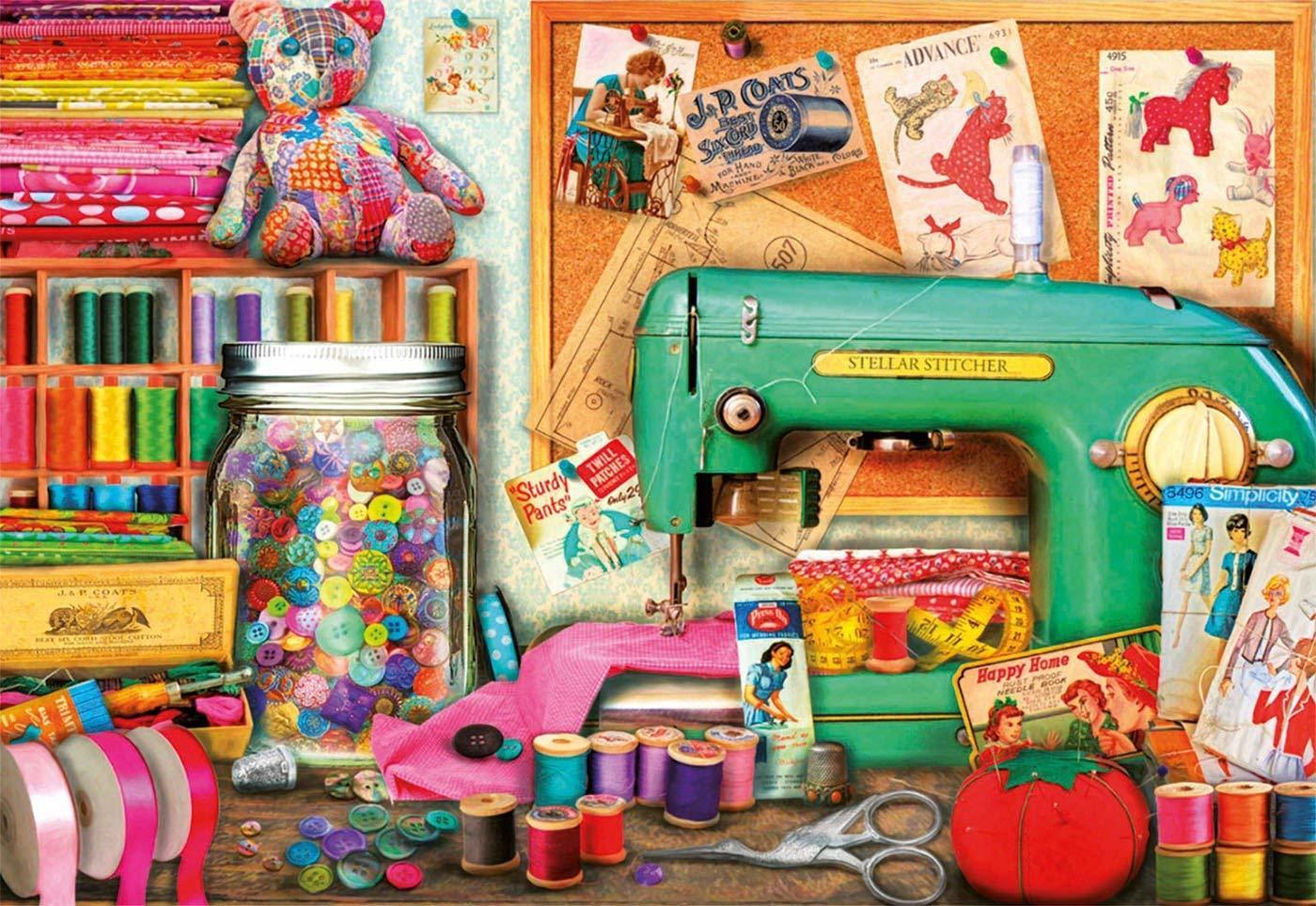 Educa Jigsaw Puzzle Sewing Corner 1000 Piece
