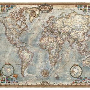 The World, Executive Map 4000 Piece Euca Jigsaw Puzzle