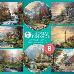 Thomas Kinkade 8-in-1 Multi Pack Assortment Jigsaw Puzzles