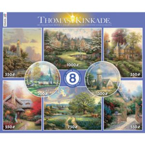 Thomas Kinkade 8-in-1 Multi Pack Jigsaw Puzzles - Ceaco