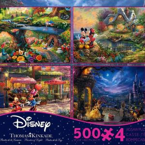 Thomas Kinkade Disney 4-in-1 500 Piece Jigsaw Puzzle