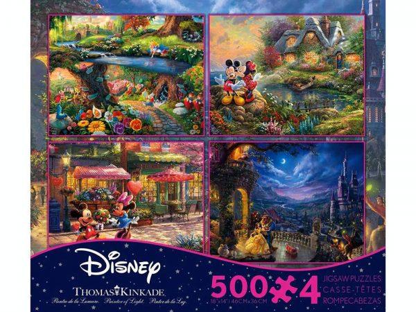 Thomas Kinkade Disney 4-in-1 500 Piece Jigsaw Puzzle