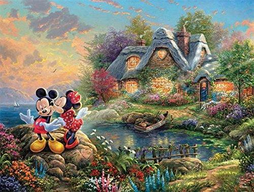 Thomas Kinkade Disney 500 Piece 4-in1 Jigsaw Puzzle Multi Pack