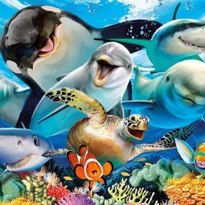 Underwater Selfies 500 Piece Jigsaw Puzzle