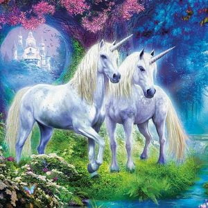 Unicorns in the Forest 500 Piece Educa Jigsaw Puzzle