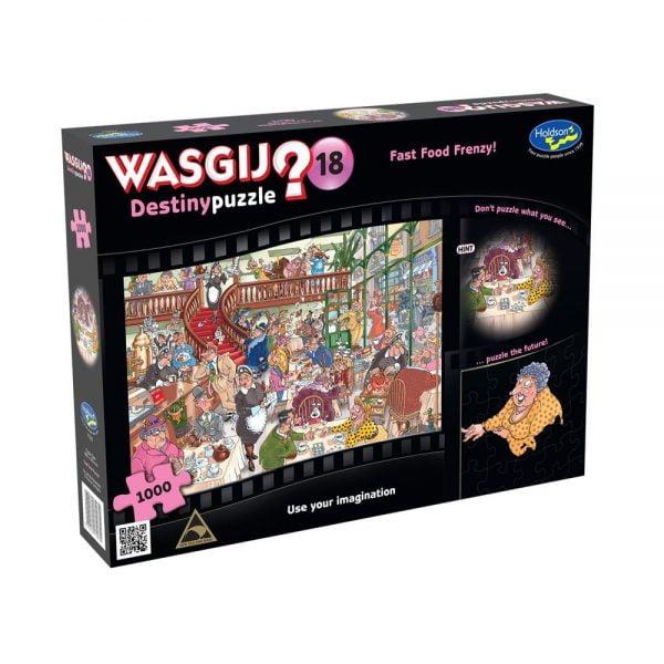 Wasgij Destiny 18 - Fast Food Frenzy 1000 Piece Jigsaw Puzzle - Holdson