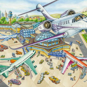 A Day at the Airport 100 Piece Jigsaw Puzzle