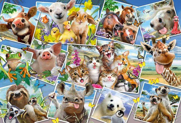 Animal Selfies 200 Piece Jigsaw Puzzle - Schmidt