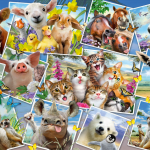 Animal Selfies 200 Piece Schmidt Jigsaw Puzzle