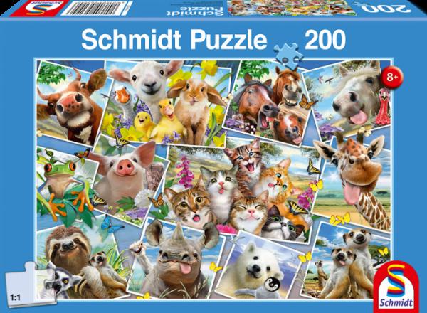 Animal Selfies 200 Piece Schmidt Jigsaw Puzzle