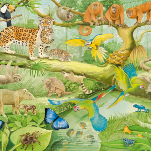 Animals in the Jungle 100 Piece Jigsaw Puzzle