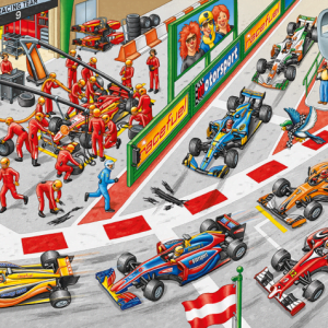 Car Race 150 Piece Schmidt Jigsaw Puzzle