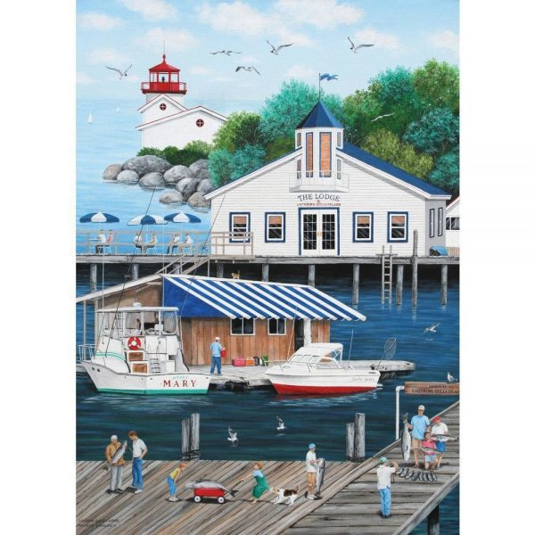 Dock of the Bay - Laughing Gulls Landing 1000 Piece Puzzle