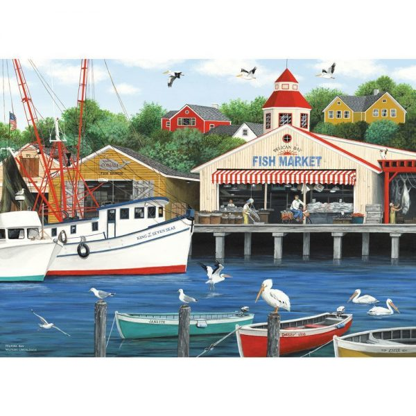Dock of the Bay - Pelican Bay 1000 Piece Holdson Puzzle