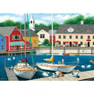Dock of the Bay - Swans Haven 1000 Piece Jigsaw Puzzle