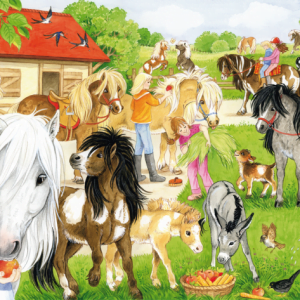 Fun at the Stables 60 Piece Schmidt Jigsaw Puzzle