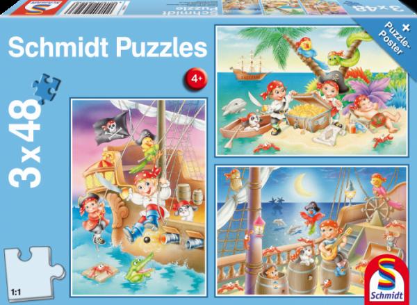 Gang of Pirates 3 x 48 Piece Schmidt Puzzle
